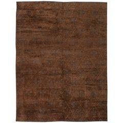 Brown Custom Moroccan Rug