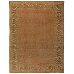 Large Antique Persian Tabriz Carpet