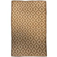 Vintage Moroccan Tribal Beige & Brown Rug