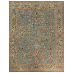 Blue Traditional Sultanabad Design Rug
