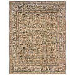 Beige Antique Persian Meshad Rug
