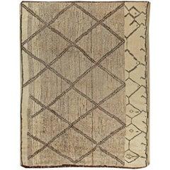 Beige Modern Custom Moroccan Rug