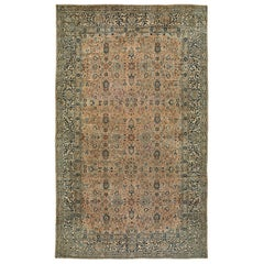 Antique Persian Kirman Carpet