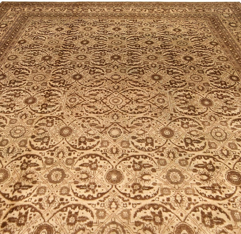 Hand-Woven Antique Persian Tabriz Rug For Sale
