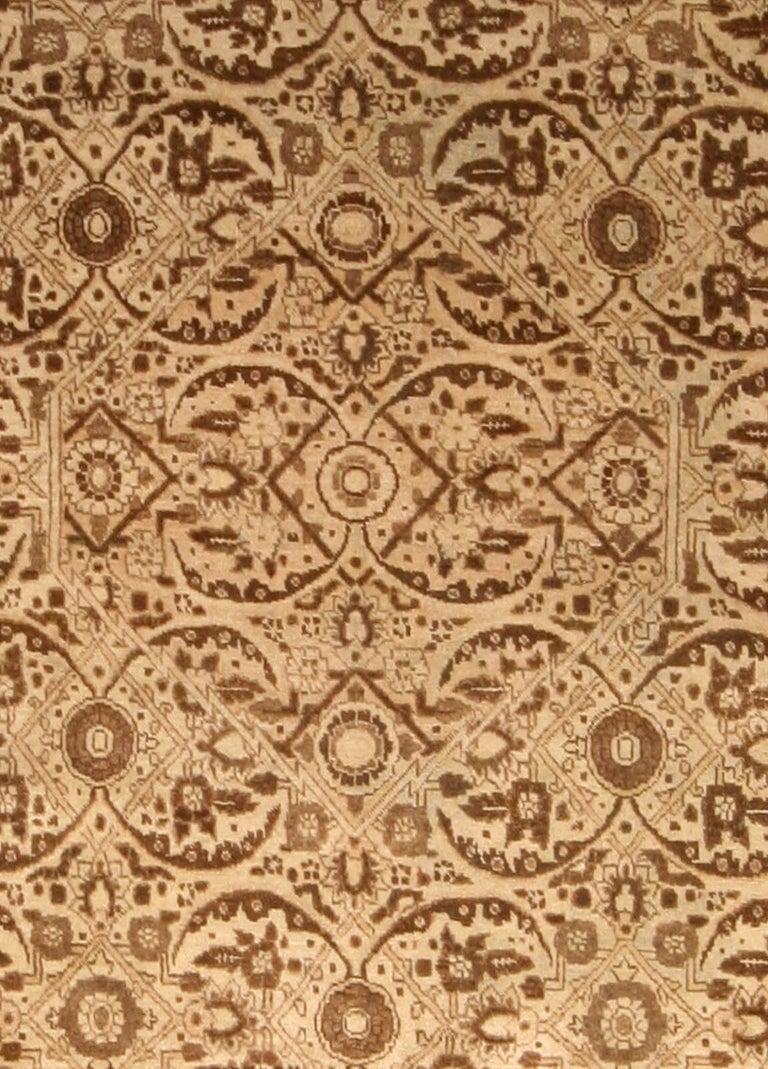 Antique Persian Tabriz rug Size: 10'2