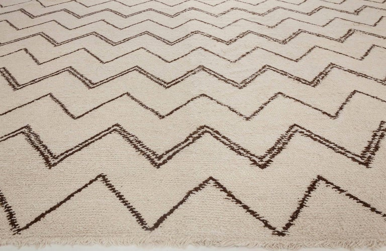 Hand-Knotted Custom Moroccan Rug For Sale