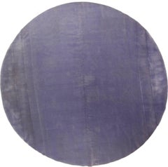 Lavender Mohair Round Rug