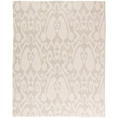 Beige Contemporary Kilim Rug