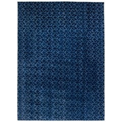 Navy Blue Pashmina Euro Rug