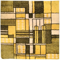 Yellow Vintage Modernist Rug
