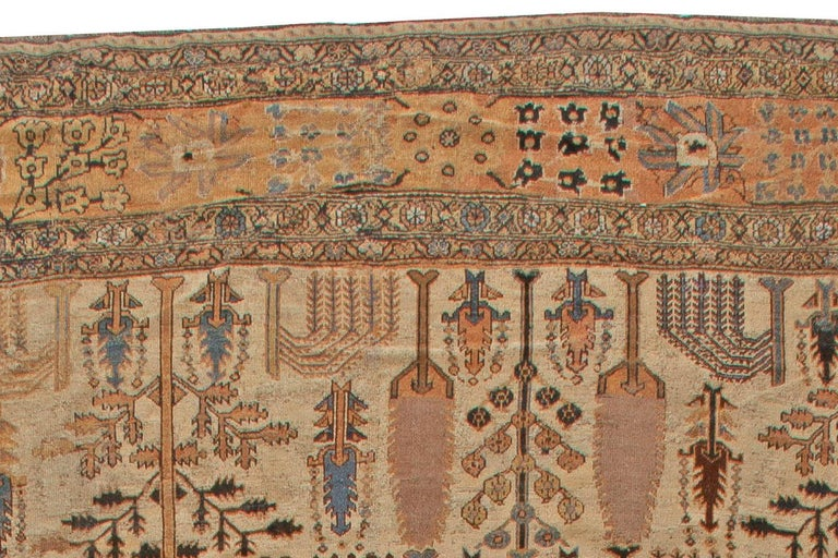 Hand-Woven Antique Persian Bakhtiari Rug For Sale
