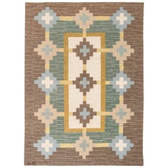 Swedish Flat-Weave Rug by 'GS'