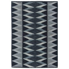 Grey Swedish Flat-Weave Rug by Nordiska Kompaniest