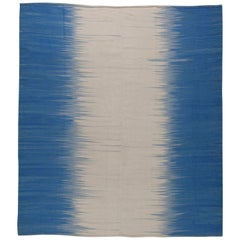 Blue Turkish Modernist Kilim