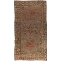 Brown Vintage Samarkand Rug