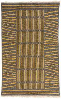Vintage Swedish Double-Piled Rug