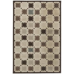 Indoor–Outdoor Flat-Weave Rug with Scandinavian Design
