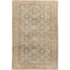 Beige Antique Persian Tabriz Rug