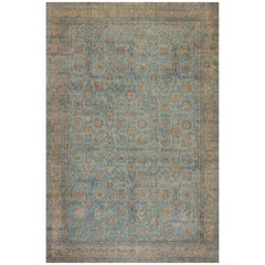 Blue Antique Persian Kirman Rug