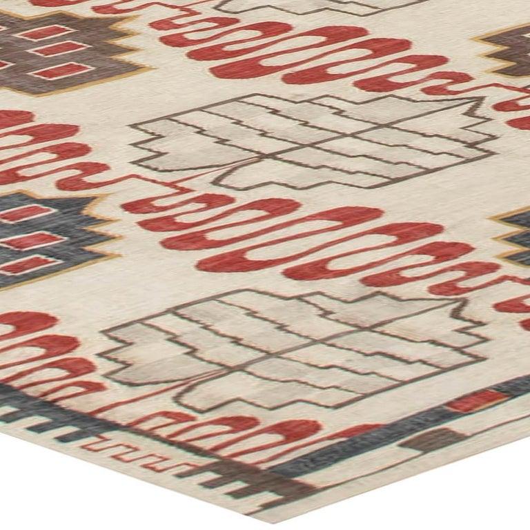 Wool Hazel Geometric Rug For Sale