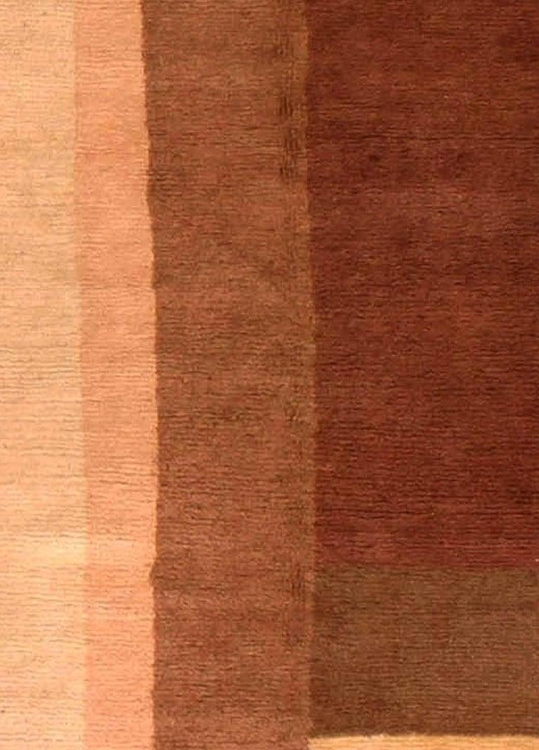 Early 20th century art deco decorative area rug Size: 7'8