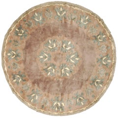 Vintage Leleu Circular Rug