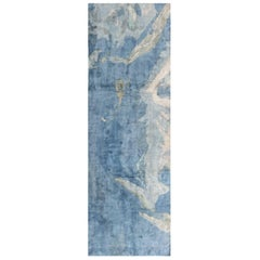 Blue Contemporary Silk Runner