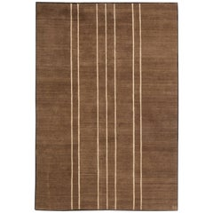 Brown Contemporary Tibetan Rug by Parkin Saunders
