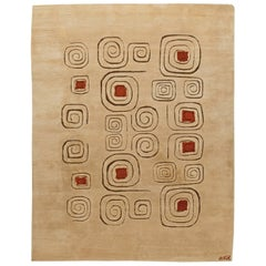 Deco Vintage Rug 'Churos' Signed by Olga Fisch