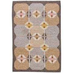Vintage Swedish Flat-Weave Rug by Ingegerd Silow