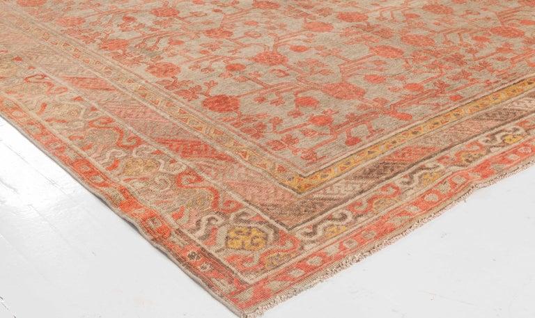 Hand-Knotted Vintage Samarkand Rug For Sale