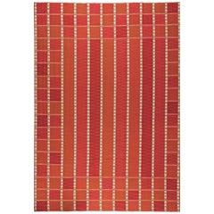 Red Oversized Swedish Flat-Weave