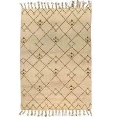 Beige Vintage Moroccan Rug