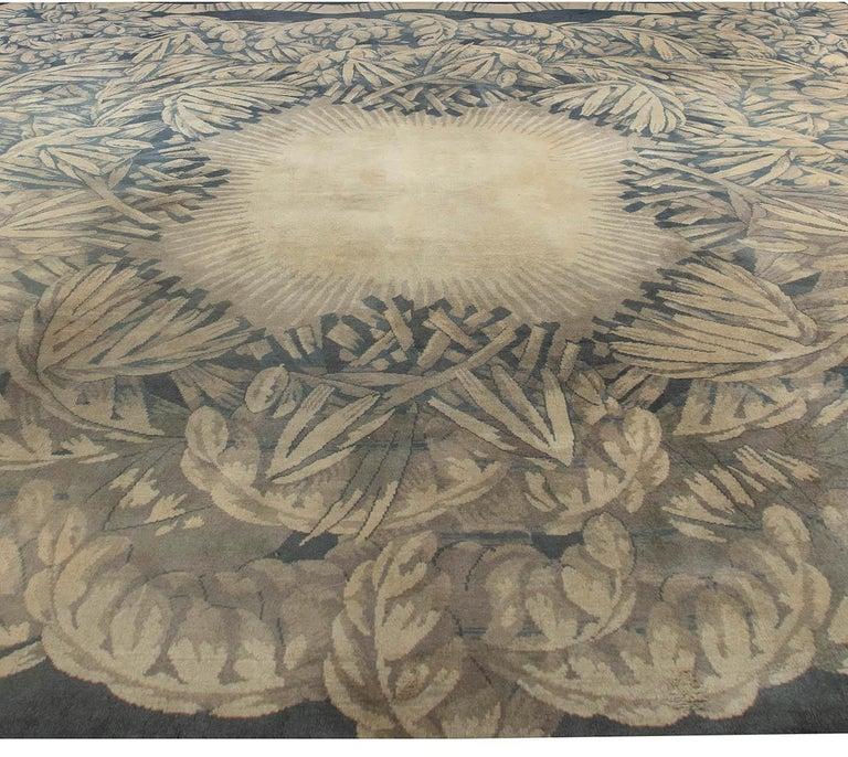 Vintage Deco rug by Sue et Mare Compagnie Des Arts Francais Size: 14'10