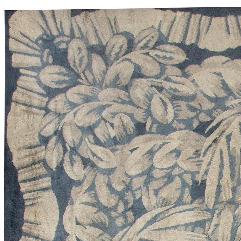 French Vintage Deco Rug by Sue et Mare Compagnie Des Arts Francais For Sale