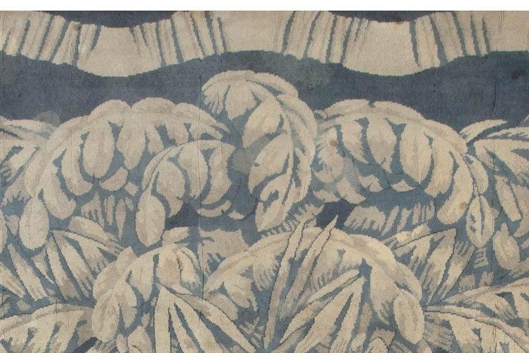 Hand-Knotted Vintage Deco Rug by Sue et Mare Compagnie Des Arts Francais For Sale
