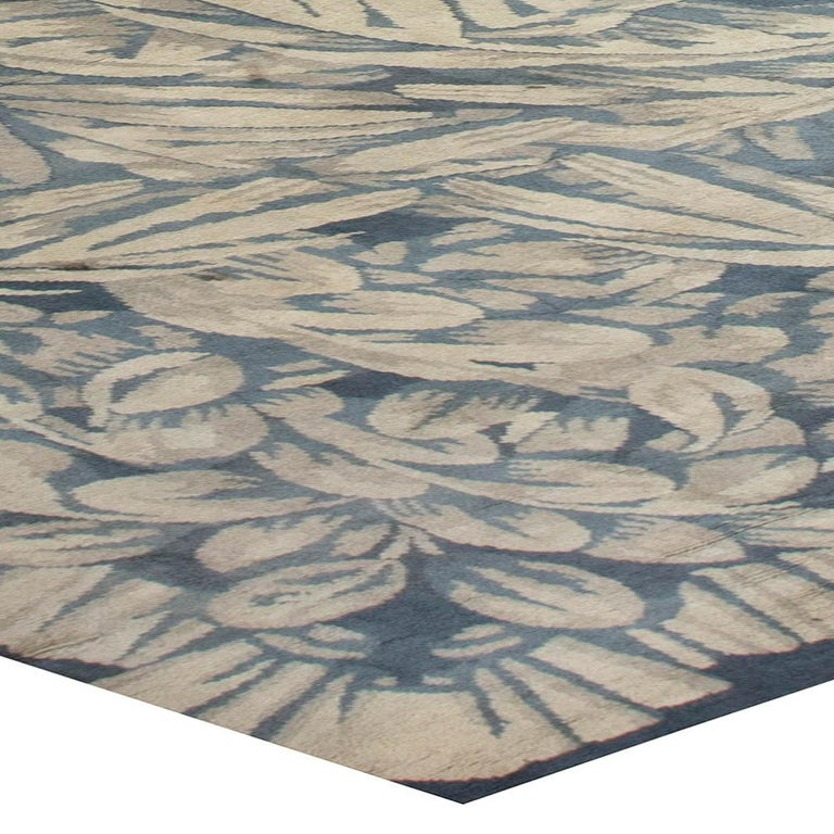 Vintage Deco Rug by Sue et Mare Compagnie Des Arts Francais In Good Condition For Sale In New York, NY