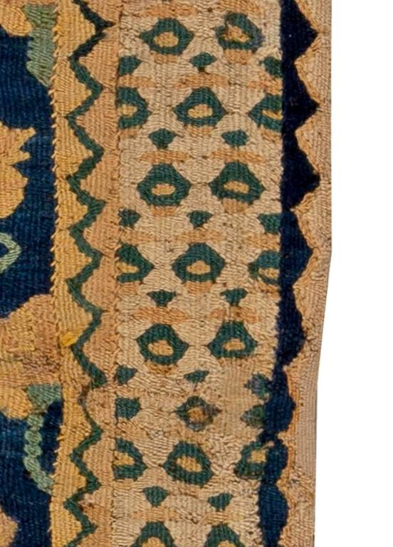 Antique Spanish Flat Weave Runner Rug For Sale At 1stdibs