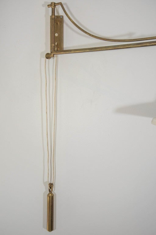 Mid-Century Adjustable Swing-Arm Wall Light For Sale at 1stdibs