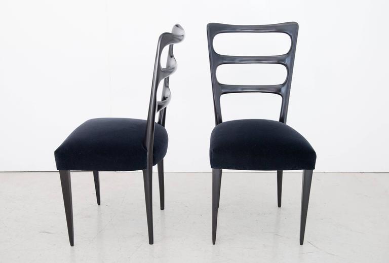 Paolo Buffa Set of Six Wood Dining Chairs 2
