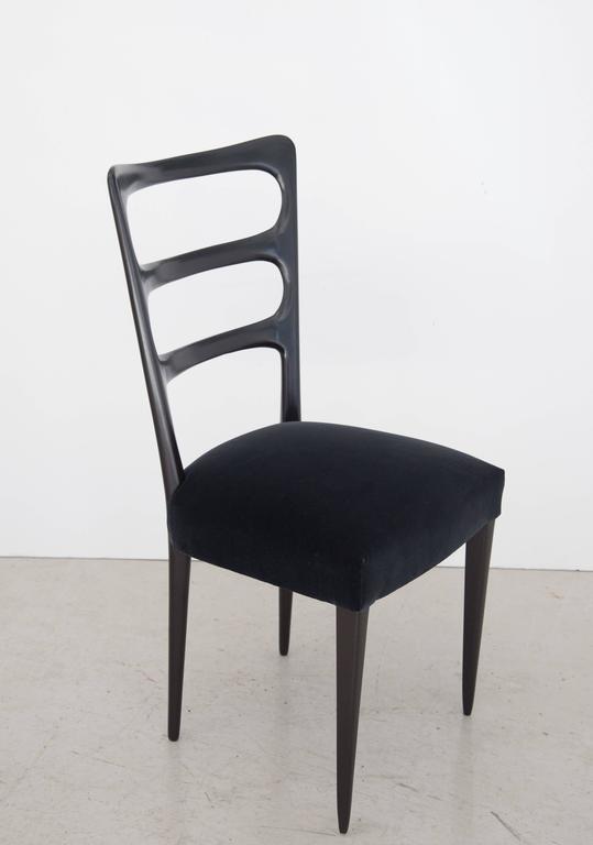 Paolo Buffa Set of Six Wood Dining Chairs 4