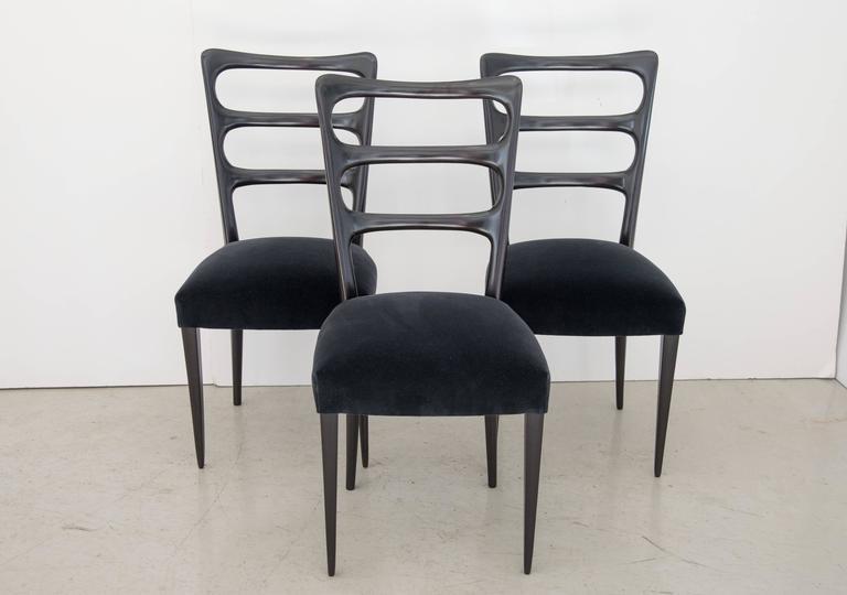Paolo Buffa Set of Six Wood Dining Chairs 5