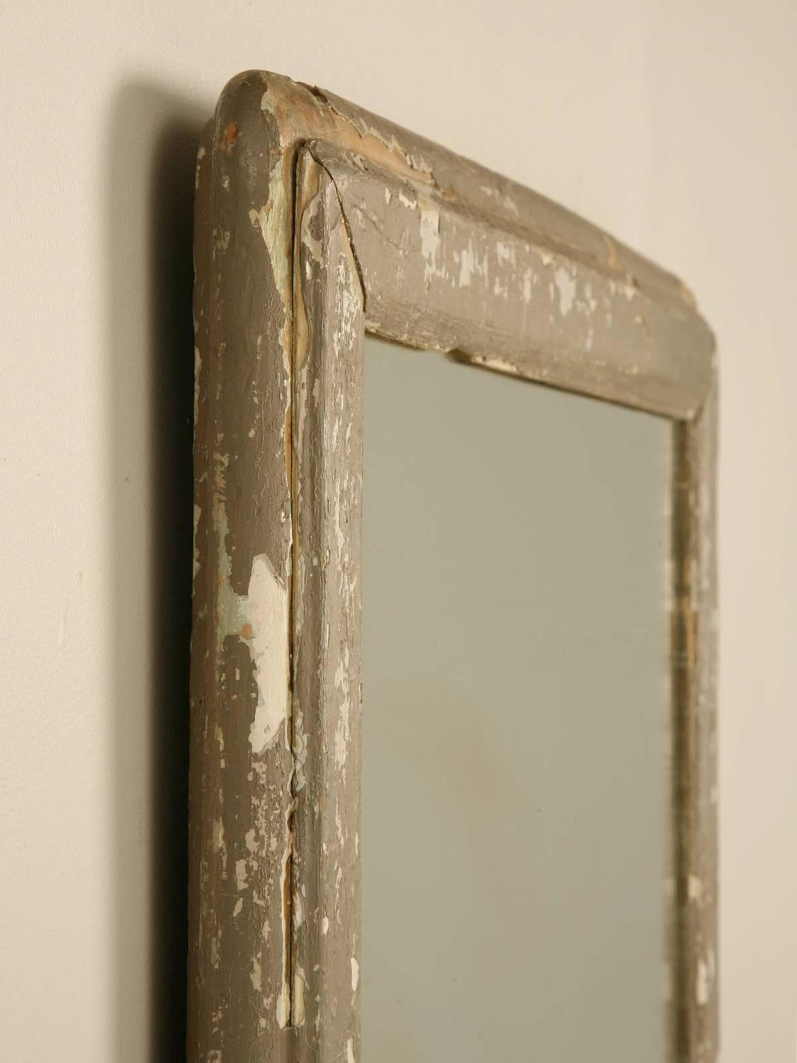 Antique french mirror in old painted frame for sale at 1stdibs for Floor mirrors for sale