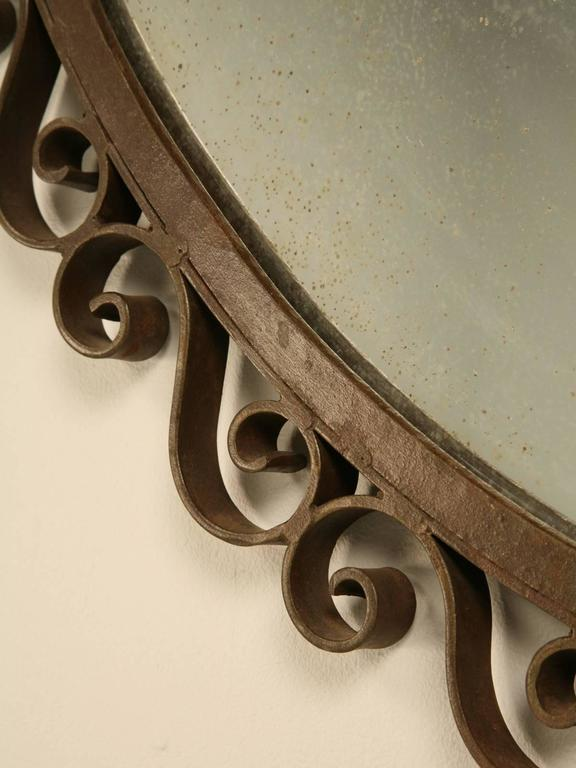 French Art Deco Mirror with Built-in Sconces For Sale 1
