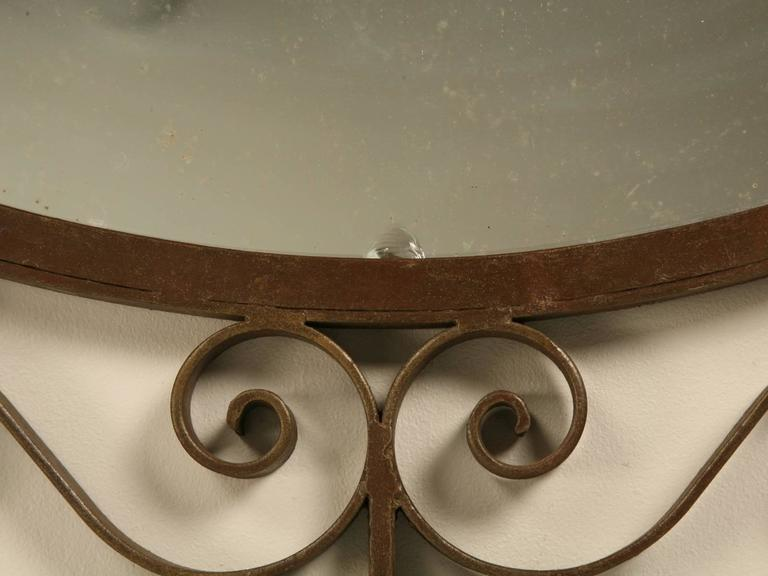 French Art Deco Mirror with Built-in Sconces For Sale 3