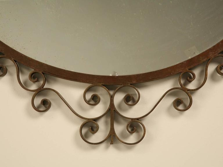 French Art Deco Mirror with Built-in Sconces For Sale 2