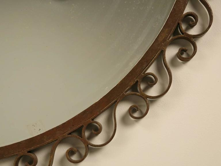 French Art Deco Mirror with Built-in Sconces For Sale 4