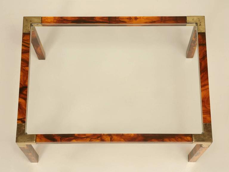 Mid-Century Modern French Faux Tortoise Shell Coffee Table, circa 1960s