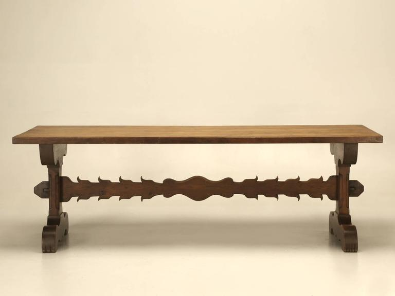 French Farm Or Trestle Dining Table At 1stdibs