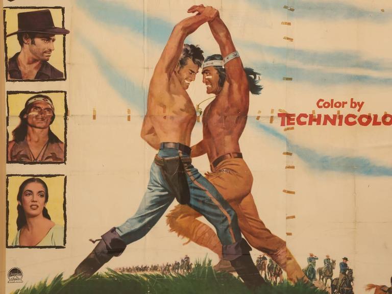 Mid-20th Century Movie Poster of Arrowhead Staring Charlton Heston, circa 1953 For Sale